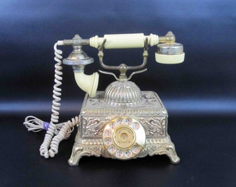 Vintage French Style Rotary Phone. Circa 1970's.