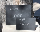 "Freestanding Chalkboards Message Memo Boards, Sign, S or L sizes, 6.5"" x 10""w or 11"" x 14""w, free standing, reusable, black color"