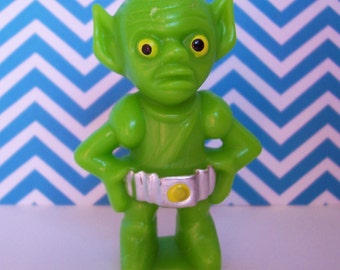 Wilton Green Martian Alien Cake Topper Candle Holder- Vintage 1978