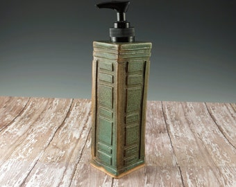 Pottery Soap Dispenser - Ceramic Soap Pump - Arts and Crafts Mission Style - Hand Soap Dispenser - 470