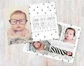 Birth Announcement Template, Birth Announcement Boy, Baby Announcement Template, Photography Templates, Photoshop Template, Digital, Jonny