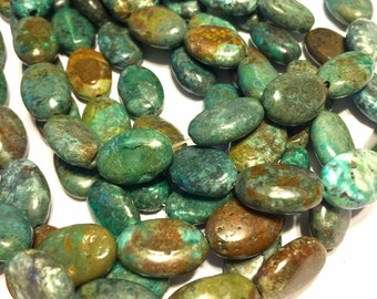 REAL TURQUOISE ovals full strand