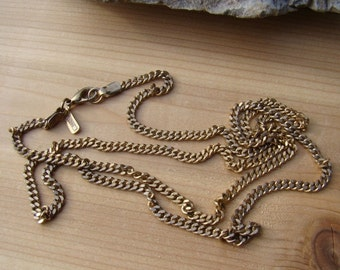 On Sale Vendome Signed Necklace Chain Flat Chain Design Nice Length Classic Beauty