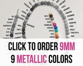 10 - 9 mm Silicone Beads - Seamless Silicone Beads in 86 Colors - 10 Metallic Colors