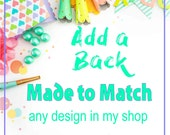 Made to Match Back to any Card Design in My Shop DIGITAL