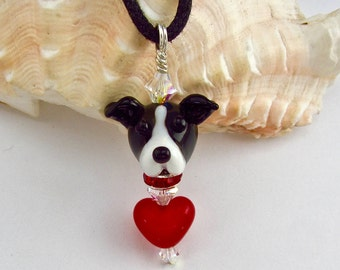 Greyhound Lover Necklace - Lampwork Bead SRA