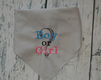 Baby Gender Reveal  Dog Bandana - Baby Announcement