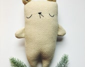 Stuffed bear toy, christmas gift for kids, plush toy bear, teddy bear, bear stuffie, bear plushie, Marshmallow the bear