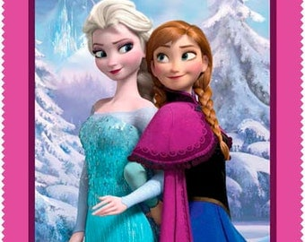 Frozen Sisters Forever Disney Panel 100% Cotton