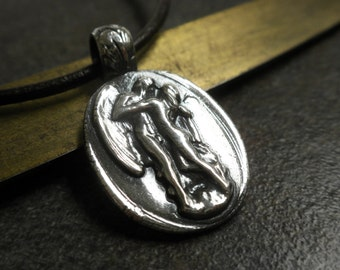 Mythology Jewelry Eros and Psyche Silver Pendant