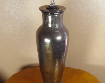 Coil Built Golden Vessel Handmade Pottery