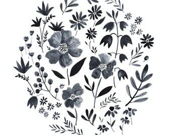 Garden Gray Art Print 11x14