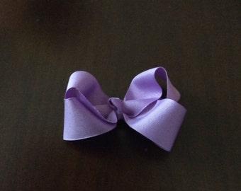 Toddler purple grosgrain hairbow