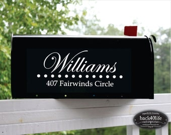 SALE!!! Stylish Street Address Numbers Mailbox Vinyl Decal (E-004h)