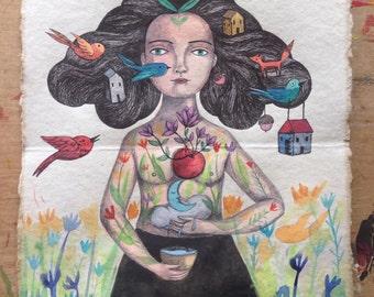 woman called Blossom Bursting with inner light