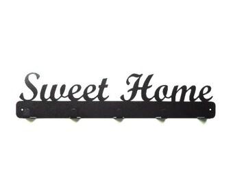 Sweet Home Metal Art Coat Rack - Free USA Shipping