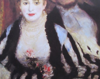 Auguste Renoir, The Box, 1874, 9 x 11 in. Reproduction Impressionist Print,Color Plate, 1970 Book Print