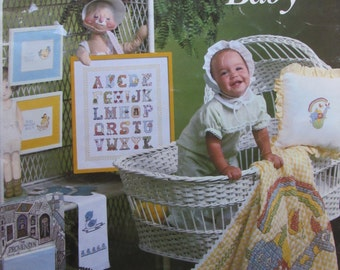 For Your Baby/Leisure Arts/Colored Graphs/Counted Cross Stitch Pattern/1979