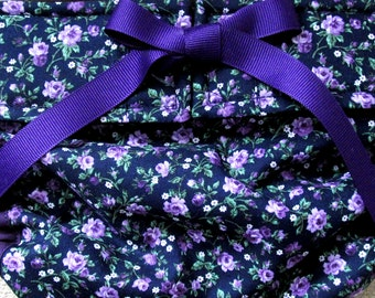 In Stock Dog Diapers Britches or Panties Small Purple Flowers on Navy Various Sizes