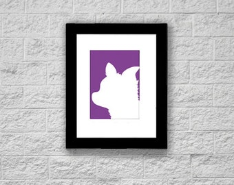 Modern Chihuahua Silhouette Art Print, Printable Art, Instant Download, Dog Art Print