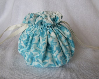 Drawstring Pouch - Medium Size - Jewelry Organizer - Tote - COTTON PUFF