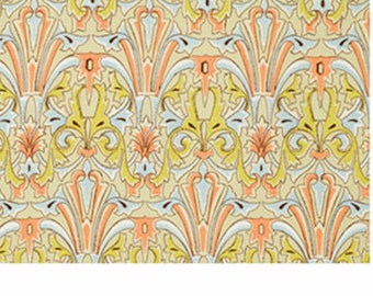 Free Spirit Victoria and Albert  Jones-DAMASK-Citron PWVA030 1 YARD CUT