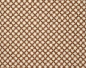 Free Spirit Verna Mosquera RUSTIC Blush-Retro POLKADOT-Bronze PWVM129   1 YD Cut