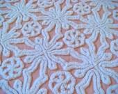 Hofmann Peachy Pink Plush Rare Vintage Cotton Chenille 18 x 24 Inches