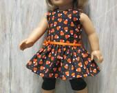 Halloween Dress and Leggings for American Girl Doll
