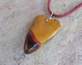 Mookaite Jasper heart necklace - natural stone jewelry handmade in Australia - natural organic unique heart pendant