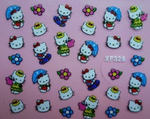 Hello Kitty Kawaii Nail Art Stickers
