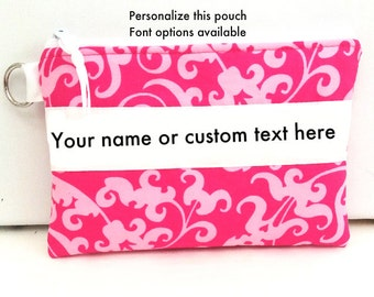 Custom Gift, Personalized Pouch, Personalized bag,  Accessory Bag, Makeup pouch, makeup bag, gift idea, gift for woman