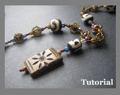 Beaded Y Necklace Tutorial. Easy Caged Bead Chain and Pendant Instructions for Personal Use