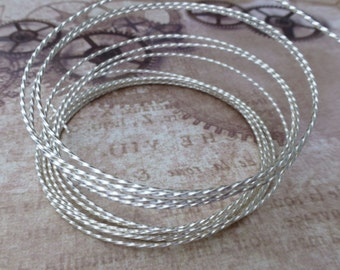 free uk postage Beadsmith 21 gauge Twisted Square Wire Silver Plated