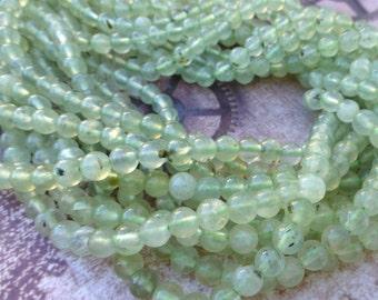 free UK postage Strand of 65 Natural Prehnite Gemstone Beads 6mm