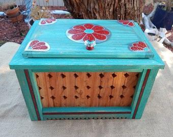 Treasure Box ~ Large Reclaimed Wood Jewelry Box  ~ Large Reclaimed Wood Box ~  Tin Lined Reclaimed Wood Treasure Box