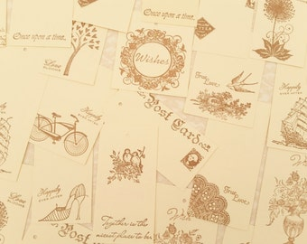 180 Wedding Wish Tree Tags Guest Book Alternative Wishing Tree Tags with Holes French Inspired Collection FREE SHIPPING