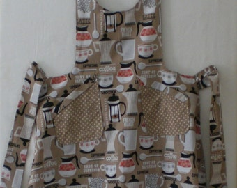 Coffee Time Reversible Apron by Judy Illi Crafts