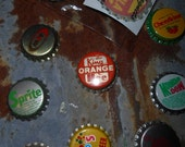 5 Vintage New Old Stock Bottle Cap Magnets 1950s-1970s