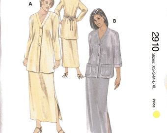 Kwik Sew 2910 Sewing Pattern, XS-S-M-L-XL, Ladies Jackets and Skirts