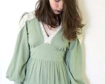 70s Vintage/ Sweet Sally Fritzi Dress/ Size Medium