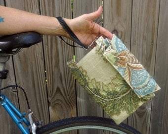 Bicycle Top Tube Wristlet - earthy floral
