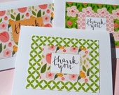 Floral Thank You Cards - Bridal Shower Thank You Cards - Baby Shower Thank You Cards - Wedding Thank You Cards -Floral Cards - LLTY3