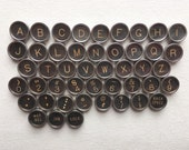 Your Choice Vintage Antique Typewriter Keys Jewelry Supplies Flat Backs Royal Typewriter Black