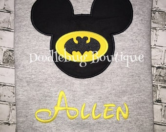 Batman Mickey Mouse shirt with name