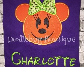 Minnie Pumpkin shirt with FREE name