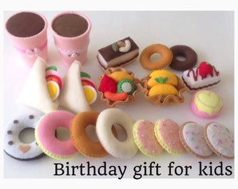 ETSY Pretend Felt food Play Food ULTIMATE Birthday Gift Set