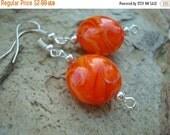 25%OFF Earring Set Orange Glass Bead (E-201)