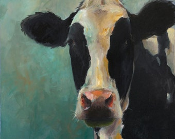 Cow Painting Mary Beth -  print of an original painting on paper by Cari Humphry