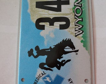 Wyoming License Plate Clipboards - Free Shipping